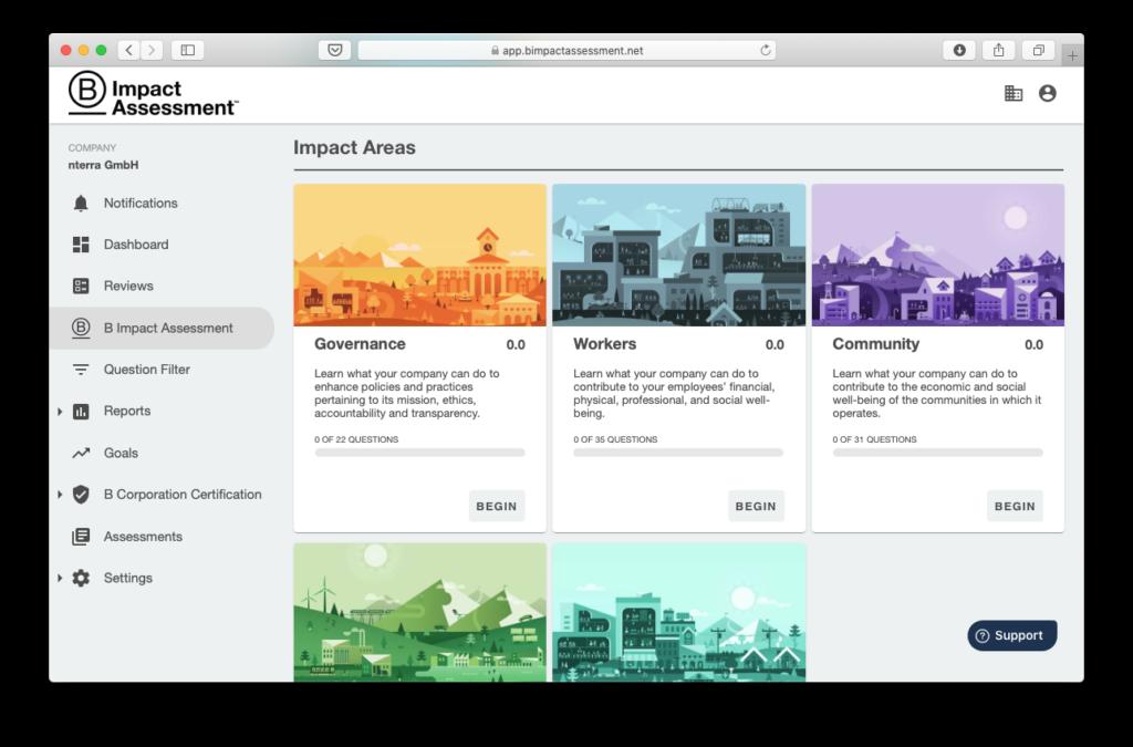 Das Impact Assessment Tool von B Lab